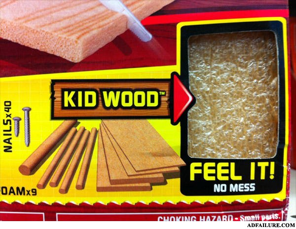 - Kid Wood..made from REAL kids...