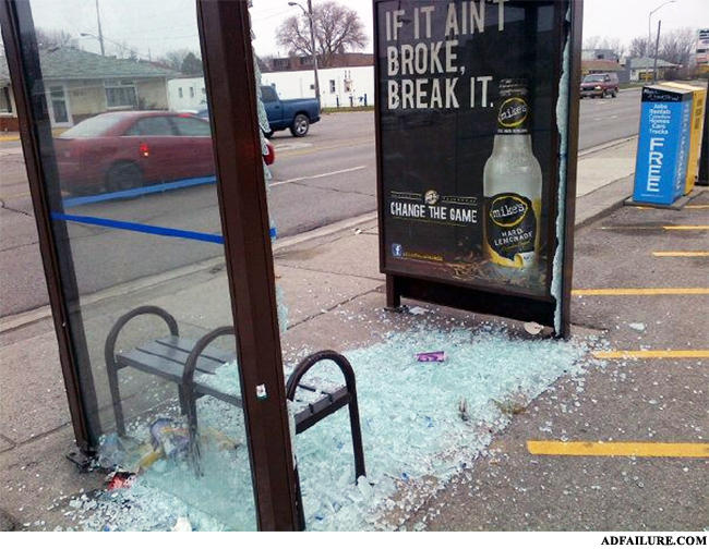 - If it is broke, use plexiglass.