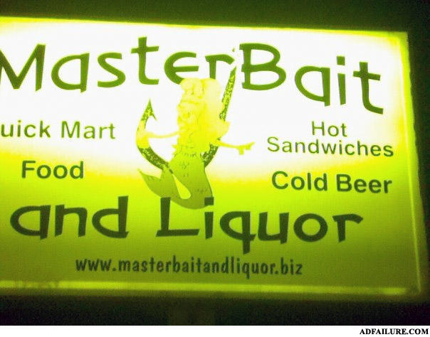 "- Notice the emphasis on ""and liquor"""
