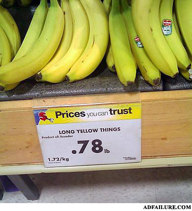 - Curved yellow fruit.