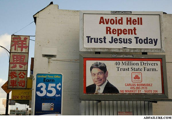 - trust Jesus? NO, trust state farm. cause they're s