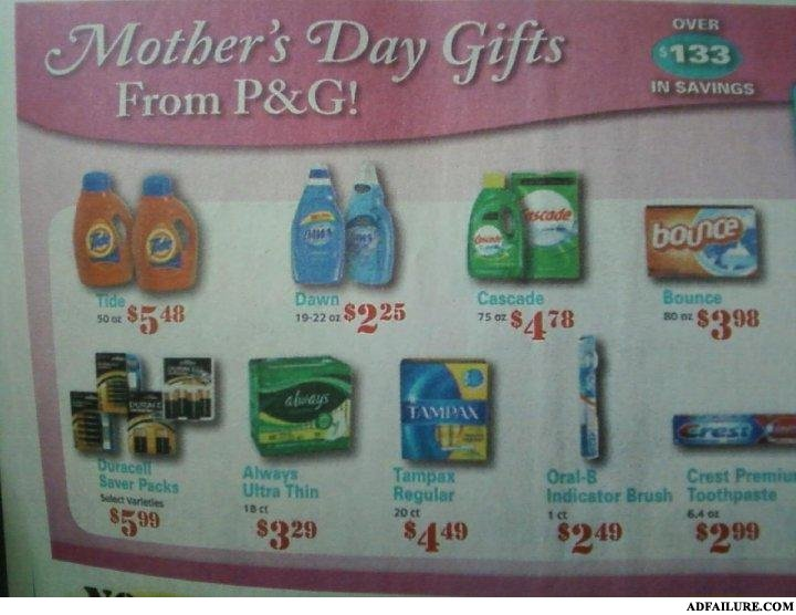 - With the price of Tide today only way your mother